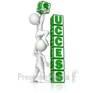 ID# 9175 - Building Success - Presentation Clipart