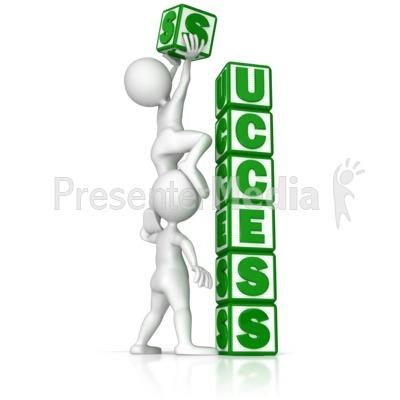 Building Success PowerPoint Clip Art