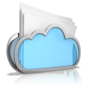 ID# 9214 - Cloud Folder - Presentation Clipart