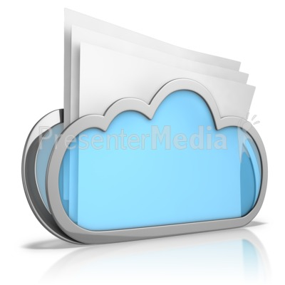 Cloud Folder PowerPoint Clip Art