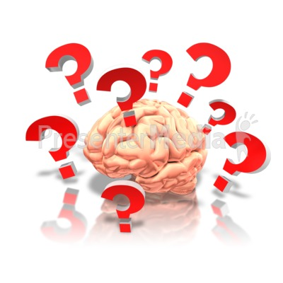 Brain With Questions PowerPoint Clip Art
