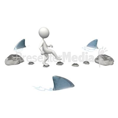 Risky Challenge Sharks PowerPoint Clip Art