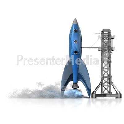 Rocket Launch PowerPoint Clip Art