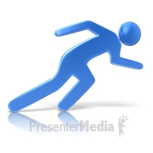 ID# 9281 - Sprinting Character Pose - Presentation Clipart
