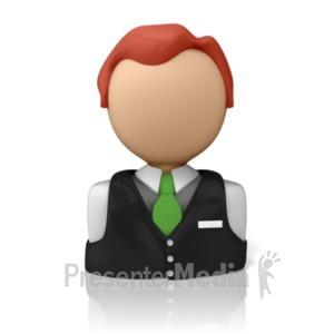 ID# 9285 - Service Person Icon - Presentation Clipart