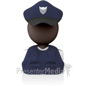 ID# 9292 - Police Officer Icon - Presentation Clipart