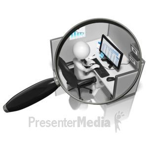 ID# 9293 - Stick Figure Micromanaged - Presentation Clipart