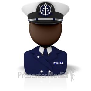 ID# 9305 - Captain Icon - Presentation Clipart