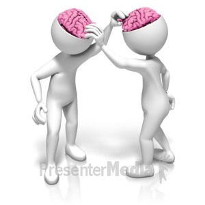 ID# 9340 - Picking Each Others Brains - Presentation Clipart