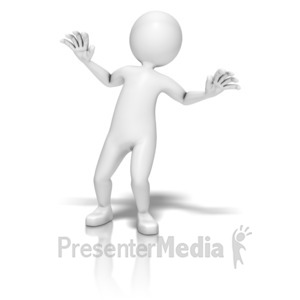 ID# 9346 - Stick Figure Afraid - Presentation Clipart
