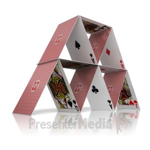 ID# 9359 - House Of Cards - Presentation Clipart