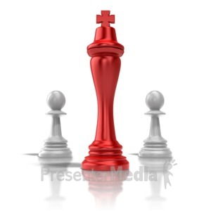 ID# 9369 - Chess King - Presentation Clipart