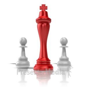 ID# 9369 - Chess King - Presentation Clipart