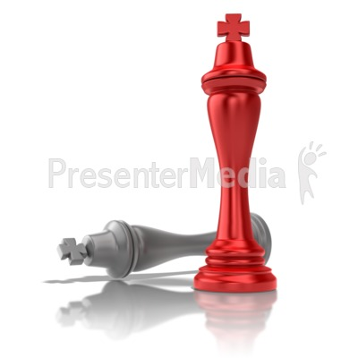 Chess King Victory PowerPoint Clip Art