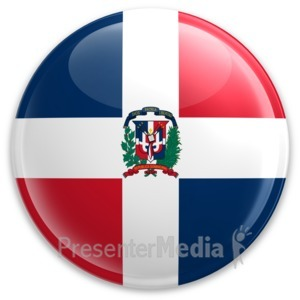 ID# 9379 - Badge The Dominican Republic - Presentation Clipart