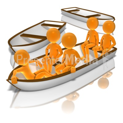 All In The Same Boat PowerPoint Clip Art