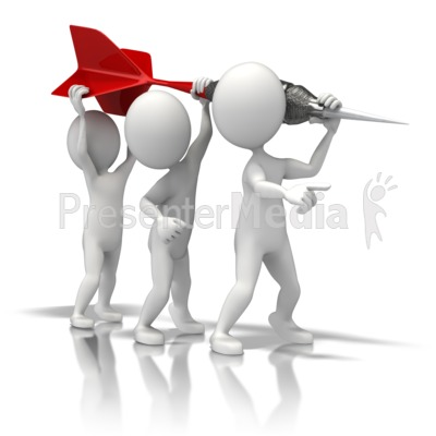 Figures Hold Dart - Presentation Clipart - Great Clipart for ...