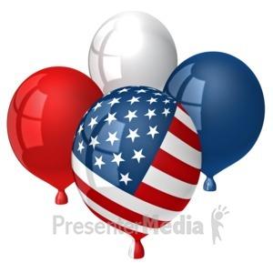 ID# 9427 - American Balloons - Presentation Clipart