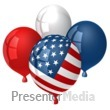 ID# 9427 - American Balloons - Presentation Clipart