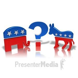 ID# 9428 - Democrat Or Republican - Presentation Clipart