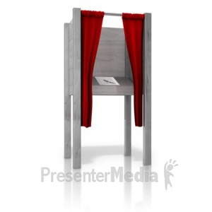 ID# 9438 - Open Voting Booth - Presentation Clipart