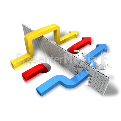 Arrow Strategy PowerPoint Clip Art