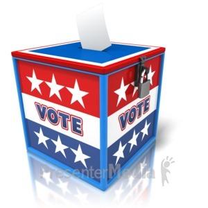 ID# 9445 - Ballot Box Voting - Presentation Clipart