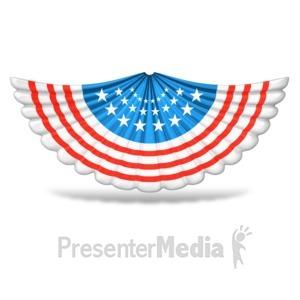 ID# 9459 - Patriotic Accordion Banner - Presentation Clipart