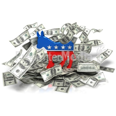 Democratic Party Money PowerPoint Clip Art