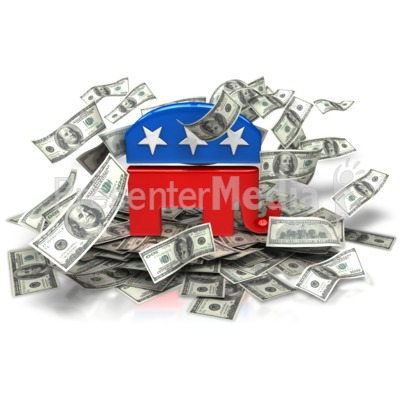 Republican Party Money PowerPoint Clip Art