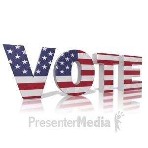 ID# 9480 - Vote America - Presentation Clipart