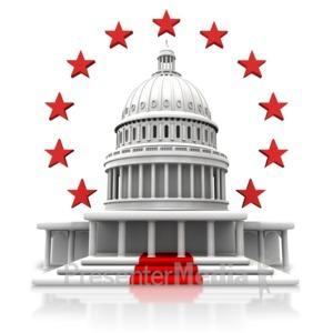 ID# 9484 - Capitol Circular Stars - Presentation Clipart