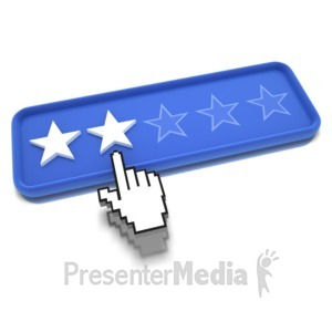 ID# 9487 - Two Star Pointing - Presentation Clipart