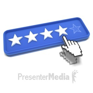 ID# 9489 - Four Star Pointing - Presentation Clipart