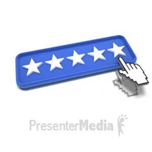 ID# 9491 - Five Star Pointing - Presentation Clipart