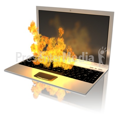 Notebook On Fire - Presentation Clipart - Great Clipart ...