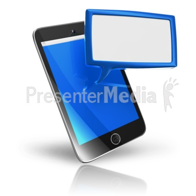 Smart Phone Texting Box PowerPoint Clip Art