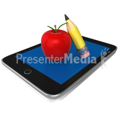 Education Tablet PowerPoint Clip Art