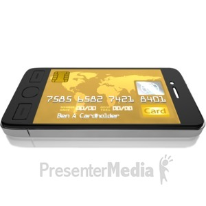 ID# 9570 - Mobile Credit Card - Presentation Clipart
