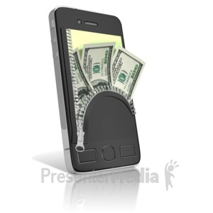 ID# 9576 - Phone Cash Zipper Wallet - Presentation Clipart