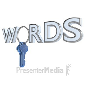 ID# 9580 - Keyword Text And Keys - Presentation Clipart