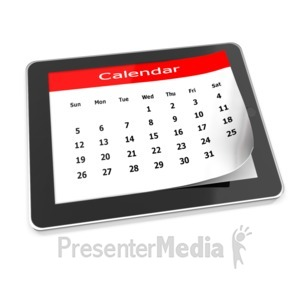 ID# 9583 - Tablet Calendar - Presentation Clipart