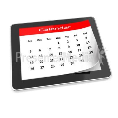 Tablet Calendar PowerPoint Clip Art