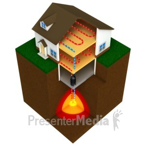 ID# 9585 - Geothermal House - Presentation Clipart