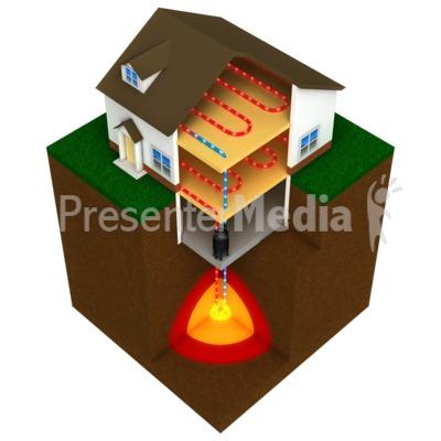 Geothermal Heating Clip Art