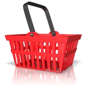 ID# 9587 - Shopping Basket - Presentation Clipart