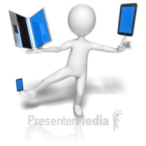 ID# 9599 - Stick Figure Balancing Gadgets - Presentation Clipart