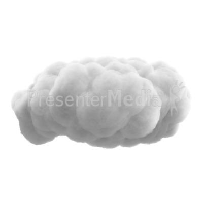Fluffy Cloud PowerPoint Clip Art