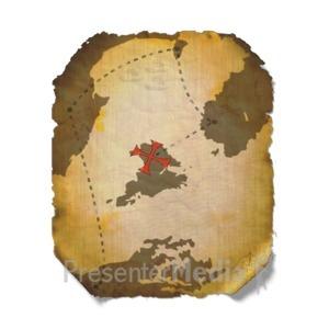 ID# 9626 - Treasure Map - Presentation Clipart