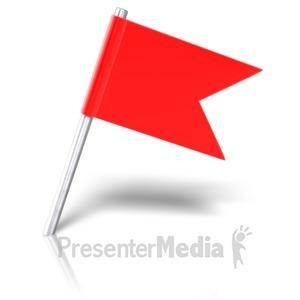 ID# 9655 - Flag Pin Angled - Presentation Clipart